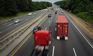 Traffic whizzes down I-40 outside Cary.